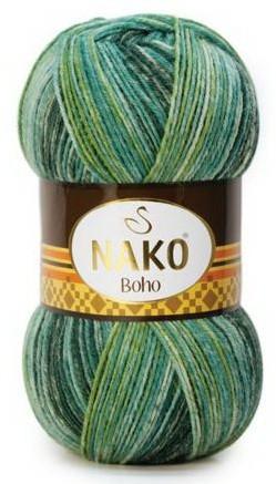 Poze Fir de tricotat sau crosetat - Fire tip mohair din lana si polyamida Nako BOHO mix 31920