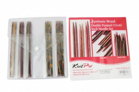 Poze KnitPro SYMFONIE WOOD - set andrele pentru sosete -15 cm