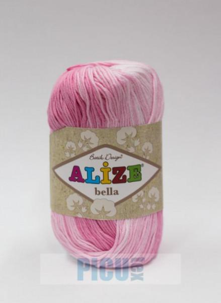 Poze Fir de tricotat sau crosetat - Fir BUMBAC 100% ALIZE BELLA BATIK 2126