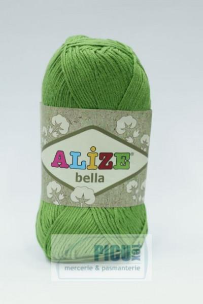 Poze Fir de tricotat sau crosetat - Fir BUMBAC 100% ALIZE BELLA - VERDE 492