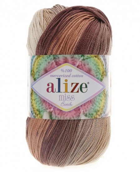 Poze Fir de tricotat sau crosetat - Fir BUMBAC 100% ALIZE MISS BATIK DEGRADE 3723