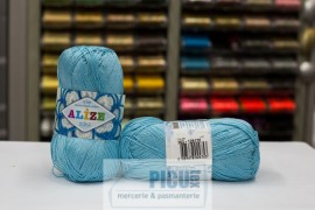 Poze Fir de tricotat sau crosetat - Fir BUMBAC 100% ALIZE MISS BLEO 263