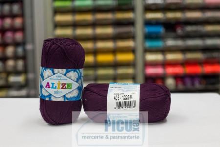 Poze Fir de tricotat sau crosetat - Fir BUMBAC 100% ALIZE MISS MOV BORDO 495