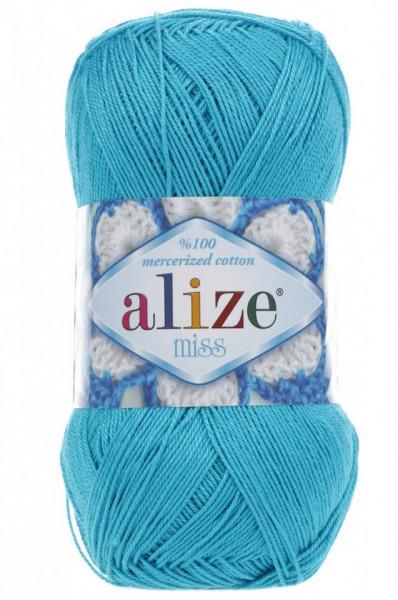 Poze Fir de tricotat sau crosetat - Fir BUMBAC 100% ALIZE MISS TURQUAZ 16