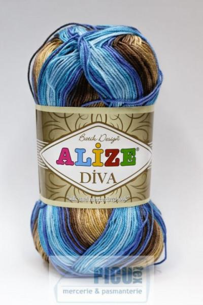 Poze Fir de tricotat sau crosetat - Fir microfibra ALIZE DIVA BATIK DEGRADE 3243