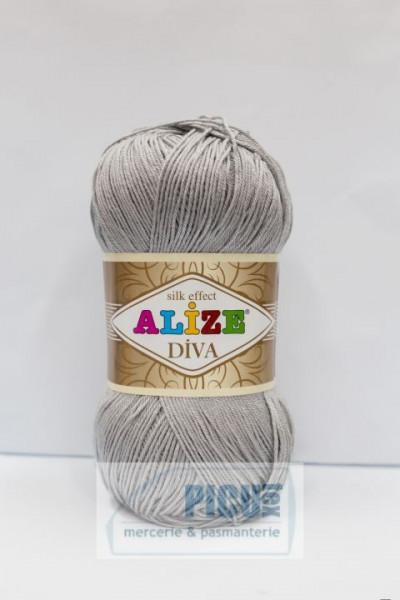 Poze Fir de tricotat sau crosetat - Fir microfibra ALIZE DIVA GRI 355