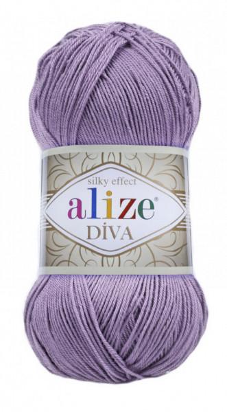 Poze Fir de tricotat sau crosetat - Fir microfibra ALIZE DIVA MOV 622
