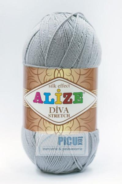 Poze Fir de tricotat sau crosetat - Fir microfibra ALIZE DIVA STRETCH GRI 253