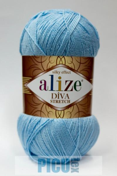 Poze Fir de tricotat sau crosetat - Fir microfibra ALIZE DIVA STRETCH ALBASTRU 350