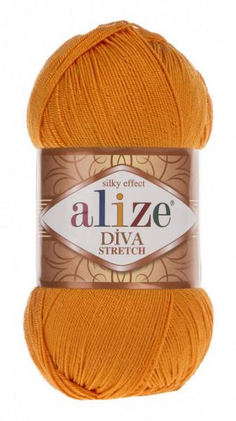 Poze Fir de tricotat sau crosetat - Fir microfibra ALIZE DIVA STRETCH PORTOCALIU 83