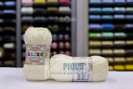 Poze Fir de tricotat sau crosetat - Fir microfibra ALIZE FOREVER CREAM 01