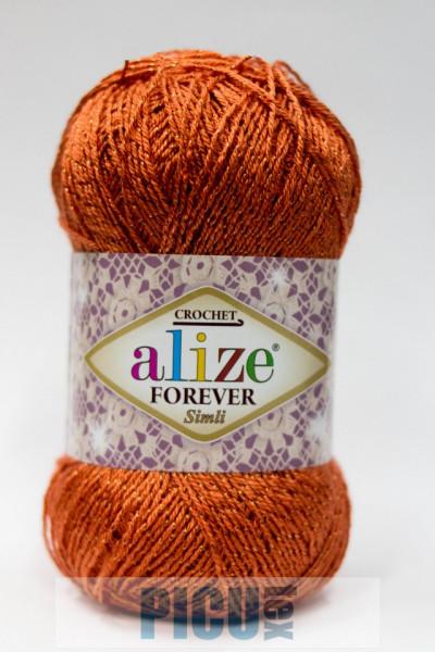 Poze Fir de tricotat sau crosetat - Fir microfibra ALIZE FOREVER SIMLI PORTOCALIU 37