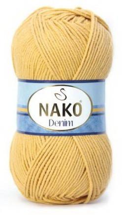 Poze Fir de tricotat sau crosetat - FIR NAKO DENIM GALBEN 11586