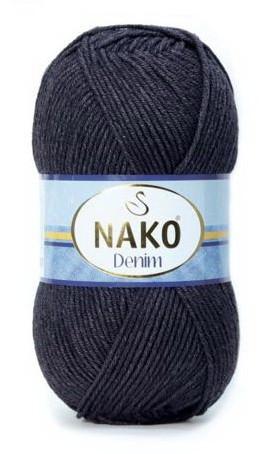 Poze Fir de tricotat sau crosetat - FIR NAKO DENIM NEGRU 217