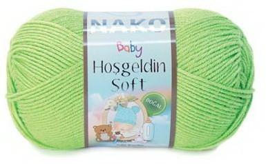 Poze Fir de tricotat sau crosetat - Fire amestec BAMBUS + POLIAMIDA NAKO Hoşgeldin Soft VERDE 11217