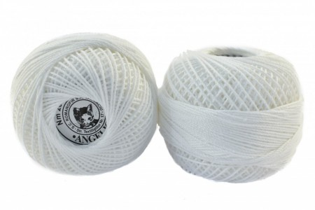 Poze Fir de tricotat sau crosetat - Fire Bumbac 100% ANGELICA ROMANOFIR BOBINA ALB 1202
