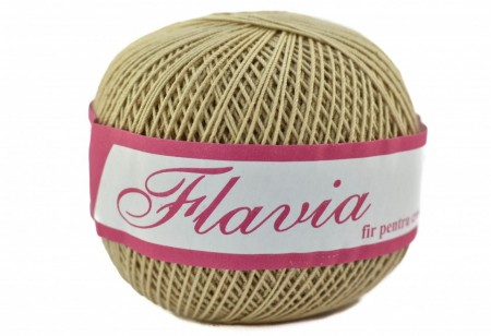 Poze Fir de tricotat sau crosetat - Fire Bumbac 100% FLAVIA ROMANOFIR BOBINA BEJ 6