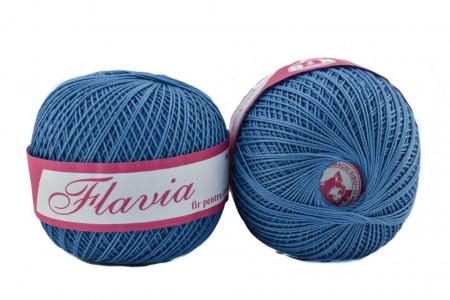Poze Fir de tricotat sau crosetat - Fire Bumbac 100% FLAVIA ROMANOFIR BOBINA ALBASTRU 1232