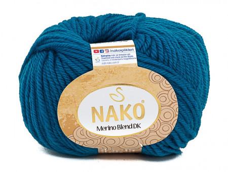 Poze Fir de tricotat sau crosetat - Fire din lana 100% Nako Merino Blend DK - ALBASTRU 10328