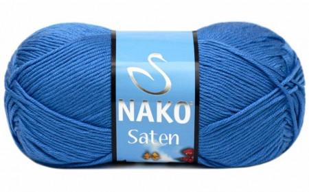 Poze Fir de tricotat sau crosetat - Fire Nako SATEN ALBASTRU 1256