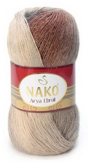Poze Fir de tricotat sau crosetat - Fire tip mohair acril NAKO ARYA EBRULI DEGRADE 86402