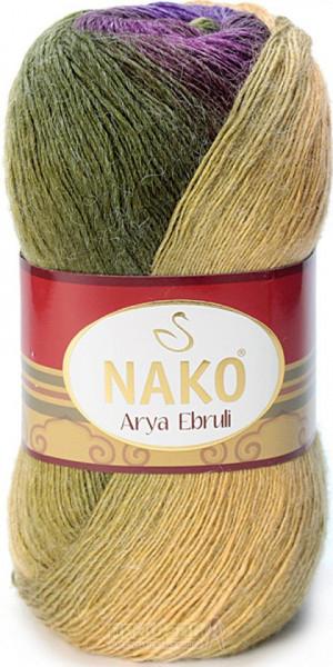 Poze Fir de tricotat sau crosetat - Fire tip mohair acril NAKO ARYA EBRULI DEGRADE 86409