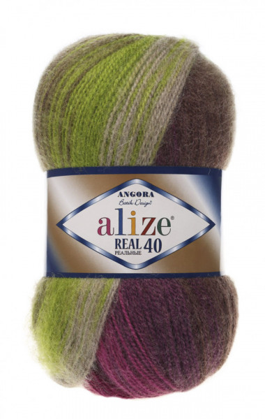 Poze Fir de tricotat sau crosetat - Fire tip mohair din acril Alize Angora Real 40 Batik degrade 3940