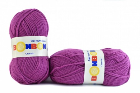 Poze Fir de tricotat sau crosetat - Fire tip mohair din acril BONBON CLASIC MOV 98402