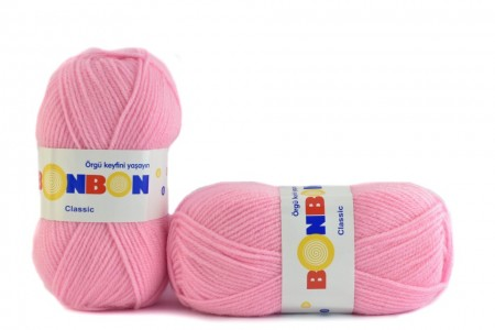 Poze Fir de tricotat sau crosetat - Fire tip mohair din acril BONBON CLASIC ROZ 98221
