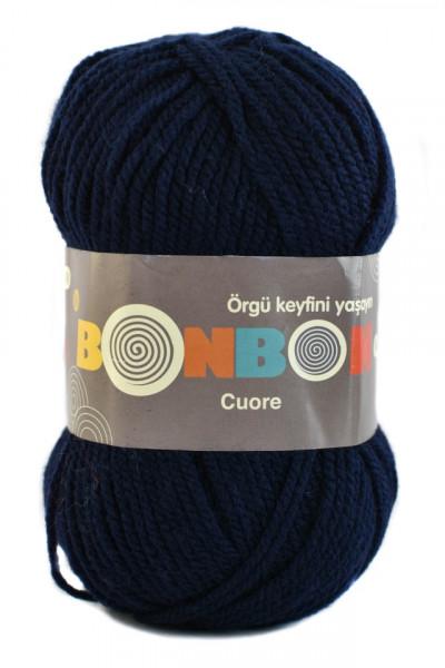 Poze Fir de tricotat sau crosetat - Fire tip mohair din acril BONBON CUORE - BLEUMARIN - 98666