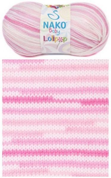 Poze Fir de tricotat sau crosetat - Fire tip mohair din acril degrade Nako Lolipop roz 80430