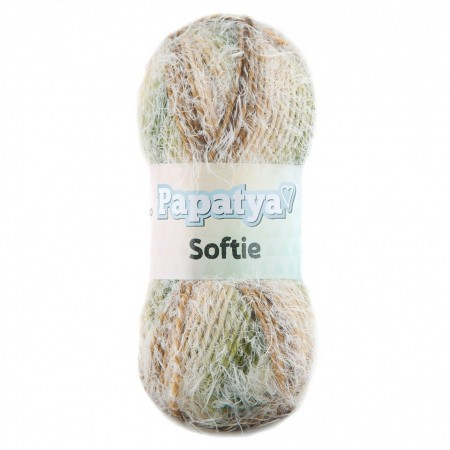 Poze Fir de tricotat sau crosetat - Fire tip mohair din acril Kamgarn Papatya Softie Degrade 713