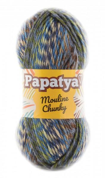 Poze Fir de tricotat sau crosetat - Fire tip mohair din acril Kamgarn Papatya Mouline Chunky Degrade 1105