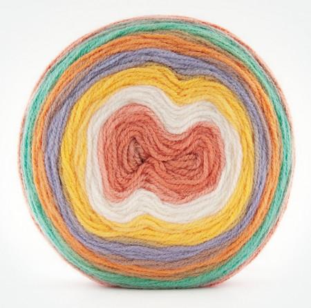 Poze Fir de tricotat sau crosetat - Fire tip mohair din acril Kamgarn Papatya CAKE degrade 205
