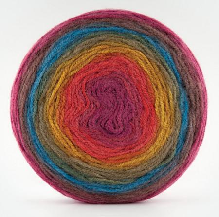 Poze Fir de tricotat sau crosetat - Fire tip mohair din acril Kamgarn Papatya CAKE degrade 204