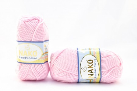 Poze Fir de tricotat sau crosetat - Fire tip mohair din acril Nako Baby MARVEL ROZ 3661