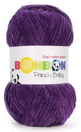 Poze Fir de tricotat sau crosetat - Fire tip mohair din acril NAKO BONBON PANDA BABY MOV 3097