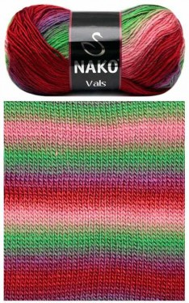 Poze Fir de tricotat sau crosetat - Fire tip mohair din acril premium Nako VALS DEGRADE 86310