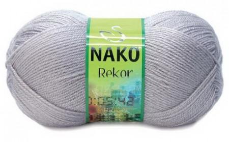 Poze Fir de tricotat sau crosetat - Fire tip mohair din acril premium Nako REKOR GRI 3079