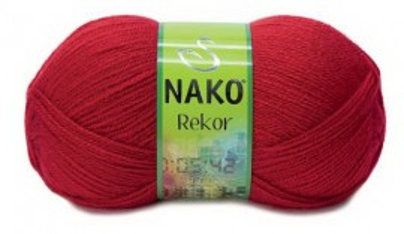 Poze Fir de tricotat sau crosetat - Fire tip mohair din acril premium Nako REKOR ROSU 251