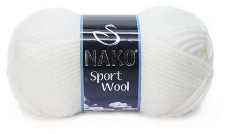 Poze Fir de tricotat sau crosetat - Fire tip mohair din acril si lana Nako Sport Wool Alb 208