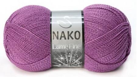 Poze Fir de tricotat sau crosetat - Fire tip mohair din acril si poliester metalic NAKO LAME FINE MOV 1048GK