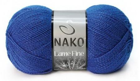 Poze Fir de tricotat sau crosetat - Fire tip mohair din acril si poliester metalic NAKO LAME FINE ALBASTRU 3265P