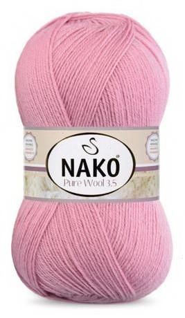 Poze Fir de tricotat sau crosetat - Fire tip mohair din lana 100% Nako PURE WOOL 3,5 ROZ 275