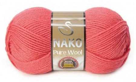 Poze Fir de tricotat sau crosetat - Fire tip mohair din lana 100% Nako PURE WOOL ROZ 11208