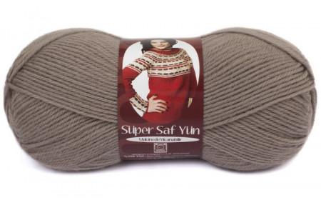 Poze Fir de tricotat sau crosetat - Fire tip mohair din lana 100% Nako Super SAF YUN GRI 257