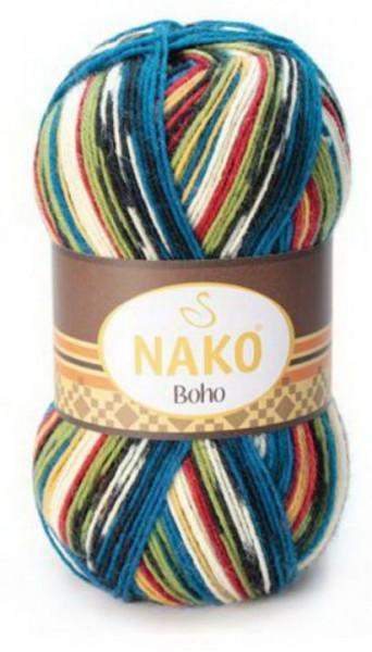 Poze Fir de tricotat sau crosetat - Fire tip mohair din lana si polyamida Nako BOHO mix 81266