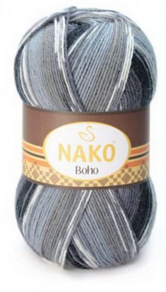 Poze Fir de tricotat sau crosetat - Fire tip mohair din lana si polyamida Nako BOHO mix 81258