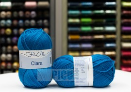 Poze Fir de tricotat sau crosetat - Fire tip mohair din poliester Filo Blu - Clara 13