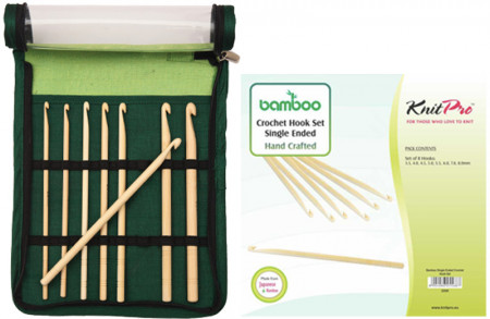 Poze KnitPro BAMBOO - set crosete un singur capat